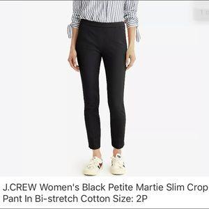 J. Crew petite Martie pant in solid black